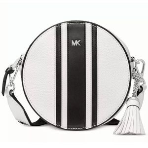 Michael Kors Bags - Michael Kors Pebble Leather Canteen Bag stripe NWT